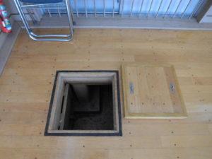 床点検口の木フタ修繕